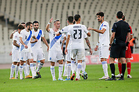 ATHENS, GREECE - OCTOBER 11: Greek players after the UEFA Nations League group stage match between Greece and Moldova at OACA Spyros Louis on October 11, 2020 in Athens, Greece. (Photo by MB Media)