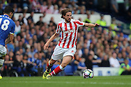 Joe Allen of Stoke City in action. Premier league match, Everton v Stoke city at Goodison Park in Liverpool, Merseyside on Saturday 27th August 2016.<br /> pic by Chris Stading, Andrew Orchard sports photography.