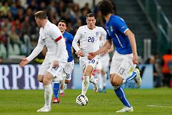 Ross Barkley of England breaks forward - Photo mandatory by-line: Rogan Thomson/JMP - 07966 386802 - 31/03/2015 - SPORT - FOOTBALL - Turin, Italy - Juventus Stadium - Italy v England - FIFA International Friendly Match.