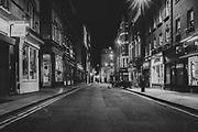 London Soho  district during there Pandemic of Coronavirus April 23.  2020.<br /> Copyright Ki Price
