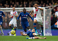 Football - 2019 / 2020 Premier League - Chelsea vs. Crystal Palace<br /> <br /> Mateo Kovacic (Chelsea FC) foils Andros Townsend (Crystal Palace) as he breaks away at Stamford Bridge <br /> <br /> COLORSPORT/DANIEL BEARHAM