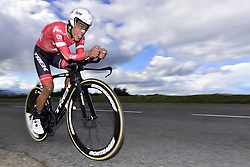 March 7, 2018 - Saint Etienne, France - SAINT-ETIENNE, FRANCE - MARCH 7 : PANTANO GOMEZ Jarlinson  (COL)  of Trek - Segafredo in action during stage 4 of the 2018 Paris - Nice cycling race, an individual time trial over 18,4 km from La Fouillouse to Saint-Etienne on March 07, 2018 in Saint-Etienne, France, 7/03/2018 (Credit Image: © Panoramic via ZUMA Press)