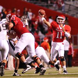 Sep 19, 2009; Piscataway, NJ, USA; Rutgers quarterback Domenic Natale (11) makes a pass during the second half of Rutgers' 23-15 victory over Florida International at Rutgers Stadium.