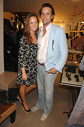 CHARLIE GILKES and MISHA NONOO at a party to celebrate the launch of Diesel's new mens & womens fragrances 'Fule for Life' at their newly reopened store on the Kings Road, London on 13th September 2007.<br />