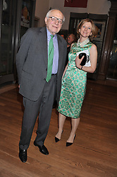SIR RONALD GRIERSON and FRANCES OSBORNE at a private view to celebrate the opening of the Royal Academy's exhibition of work by David Hockney held at The Royal Academy, Burlington House, Piccadilly, London on 17th January 2012.