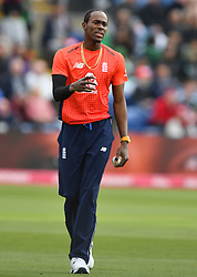 England's Jofra Archer during the wicket of Pakistan's Imam-ul-Haq duiring the Vitality IT20 match at Sophia Gardens, Cardiff.
