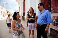 Photography exhibition at the Municipal Museum in Gibara, Holguin, Cuba.