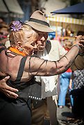 Couple dancing, San Telmo District, Buenos Aires, Argentina, South America