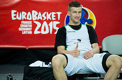 Alen Omic of Slovenia during practice session of Team Slovenia at Day 3 in Group C of FIBA Europe Eurobasket 2015, on September 7, 2015, in Arena Zagreb, Croatia. Photo by Vid Ponikvar / Sportida