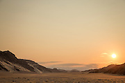 Desert plains, sunset, Skeleton Coast, Northern Namibia, Southern Africa