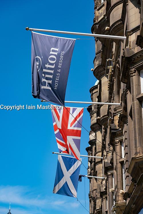 Exterior of Hilton Edinburgh Carlton Hotel in Edinburgh, Scotland, UK