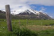Pasture near Eyjafördur, Iceland