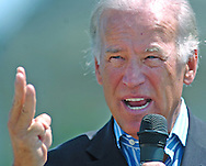 8/16/06 Des Moines. IASen. Joseph Biden speaks at an anti Wal Mart event in Des Moines Wednesday afternoon.(Chris Machian/Prairie Pixel Group)