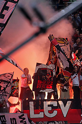 05.11.2011,  BayArena, Leverkusen, GER, 1.FBL, Bayer 04 Leverkusen vs Hamburger SV, im Bild.Leverkusener Fans zünden Pyrotechnik (selten)..// during the 1.FBL, Bayer Leverkusen vs Hamburger SV on 2011/11/05, BayArena, Leverkusen, Germany. EXPA Pictures © 2011, PhotoCredit: EXPA/ nph/  Mueller       ****** out of GER / CRO  / BEL ******