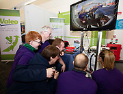 24/11/2019 repro free:   Valeo Team checking out a reversing sensor camera at the exhibition day of the Galway Science and Technology Festival at NUI Galway where over 20,000 people attended exhibition stands  from schools to Multinational Companies . Photo:Andrew Downes, xposure