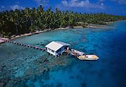 Small private pearl farm in Manihi, French Polynesia