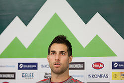 Carlos Manuel Bocanegra, player of US National team at press conference  1 day before friendly game against Slovenia, on November 14, 2011 in SRC Stozice, Ljubljana, Slovenia.  (Photo By Vid Ponikvar / Sportida.com)