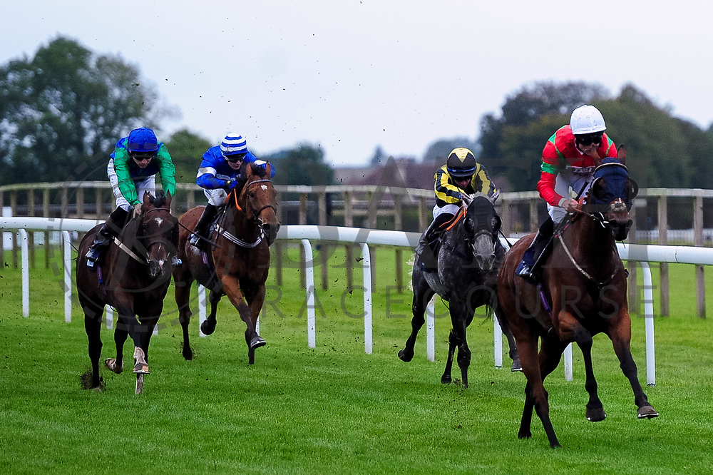 Espresso Freddo ridden by Dane O'Neill and trained by Robert Stephens, Mabo ridden by Rossa Ryan and trained by Grace Harris, Dancing Jo ridden by Callum Shepherd and trained by M R Channon,  - Ryan Hiscott/JMP - 30/09/2019 - PR - Bath Racecourse - Bath, England - Race Meeting at Bath Racecourse