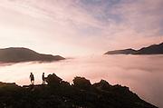 Alaska. Arctic National Wildlife Refuge ANWR . Aichlic River drainage above the fog.
