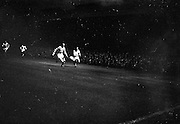 18/09/1963<br /> 09/18/1963<br /> 18 September 1963<br /> Inter Cities fairs Cup - Shamrock Rovers v Valencia at Dalymount Park, Dublin. R. Nolan (Rovers) and Guillot (Valencia)  in a race for possession.