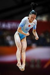 November 2, 2018 - Doha, Qatar - Jinru Liu of China   during  Vault for Women at the Aspire Dome in Doha, Qatar, Artistic FIG Gymnastics World Championships on 2 of November 2018. (Credit Image: © Ulrik Pedersen/NurPhoto via ZUMA Press)