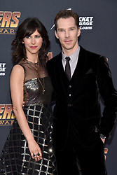 Benedict Cumberbatch, Sophie Hunter attend the World Premiere of Avengers: Infinity War on April 23, 2018 in Los Angeles, Ca, USA. Photo by Lionel Hahn/ABACAPRESS.COM