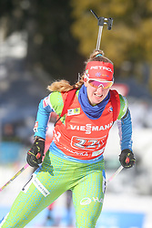 Klemencic Polona of Slovenia competes during the IBU World Championships Biathlon 4x6km Relay Women competition on February 20, 2021 in Pokljuka, Slovenia. Photo by Vid Ponikvar / Sportida