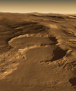 glacial craters on Mars