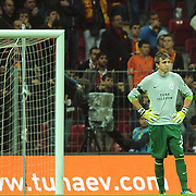 Galatasaray's goalkeeper Nestor Fernando MUSLERA during their Turkish Superleague Galatasaray between Gaziantepspor at the TT arena in Istanbul Turkey on Wednesday 26 October 2011. Photo by TURKPIX