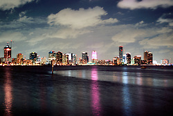 downtown Miami at night, Miami, Florida