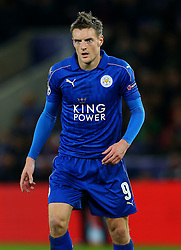 Jamie Vardy of Leicester City  - Mandatory by-line: Matt McNulty/JMP - 22/11/2016 - FOOTBALL - King Power Stadium - Leicester, England - Leicester City v Club Brugge - UEFA Champions League
