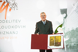 Adolf Urnaut at 54th Annual Awards of Stanko Bloudek for sports achievements in Slovenia in year 2018 on February 13, 2019 in Brdo Congress Center, Brdo, Ljubljana, Slovenia,  Photo by Peter Podobnik / Sportida
