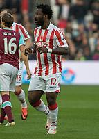 Football - 2016 / 2017 Premier League - West Ham United vs. Stoke City<br /> <br /> Wilfred Bony of Stoke City at The London Stadium.<br /> <br /> COLORSPORT/DANIEL BEARHAM