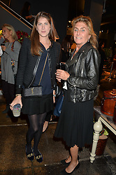 Left to right, PRINCESS FLORENCE TOLLEMACHE and her mother PRINCESS VICTORIA VON PREUSSEN at a party to celebrate the publication of Flourish by Willow Crossley held at OKA, 155-167 Fulham Rd, London on 4th October 2016.
