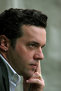Canadian writer Joseph Boyden is pictured at the Edinburgh International Book Festival prior to talking about his work. The Edinburgh International Book Festival is the world's largest literary event, with over 500 authors from across the world participating each year and ran from 13-29 August. Edinburgh was named the world's first UNESCO City of Literature.