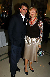 """COUNT & COUNTESS MANFREDIE DELLA GHERARDESCA at a party to celebrate the publication of Bruce Oldfield's autobiography """"Rootless"""" held in aid of Crimestoppers at Claridge's, Brook Street, London W1 on 22nd September 2004.<br /><br />NON EXCLUSIVE - WORLD RIGHTS"""