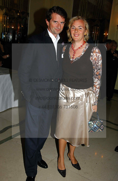 "COUNT & COUNTESS MANFREDIE DELLA GHERARDESCA at a party to celebrate the publication of Bruce Oldfield's autobiography ""Rootless"" held in aid of Crimestoppers at Claridge's, Brook Street, London W1 on 22nd September 2004.<br />