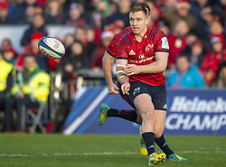 December 9, 2018 - Limerick, Ireland - Rory Scannell of Munster in action during the Heineken Champions Cup Round 3 match between Munster Rugby and Castres Qlympique at Thomond Park Stadium in Limerick, Ireland on December 9, 2018  (Credit Image: © Andrew Surma/NurPhoto via ZUMA Press)