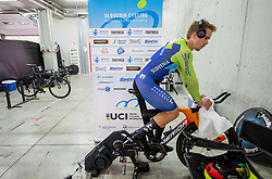 Jan Tratnik of Slovenia at warming up during Men Time Trial at UCI Road World Championship 2020, on September 24, 2020 in Imola, Italy. Photo by Vid Ponikvar / Sportida