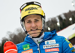 """Stefan Hadalin (SLO) after the 1st Run of FIS Alpine Ski World Cup 2017/18 Men's Slalom race named """"Snow Queen Trophy 2018"""", on January 4, 2018 in Course Crveni Spust at Sljeme hill, Zagreb, Croatia. Photo by Vid Ponikvar / Sportida"""