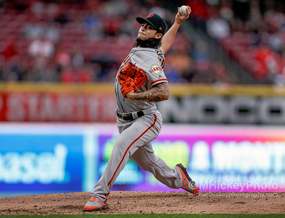 CINCINNATI, OH - MAY 04: Dereck Rodriguez #57 of the San Francisco Giants pitches during the game against the Cincinnati Reds at Great American Ball Park on May 4, 2019 in Cincinnati, Ohio. (Photo by Michael Hickey/Getty Images) *** Local Caption *** Dereck Rodriguez
