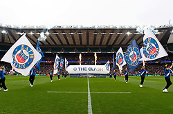 A general view of the pre-match spectacle - Mandatory byline: Patrick Khachfe/JMP - 07966 386802 - 06/04/2019 - RUGBY UNION - Twickenham Stadium - London, England - Bath Rugby v Bristol Rugby - The Clash - Gallagher Premiership Rugby