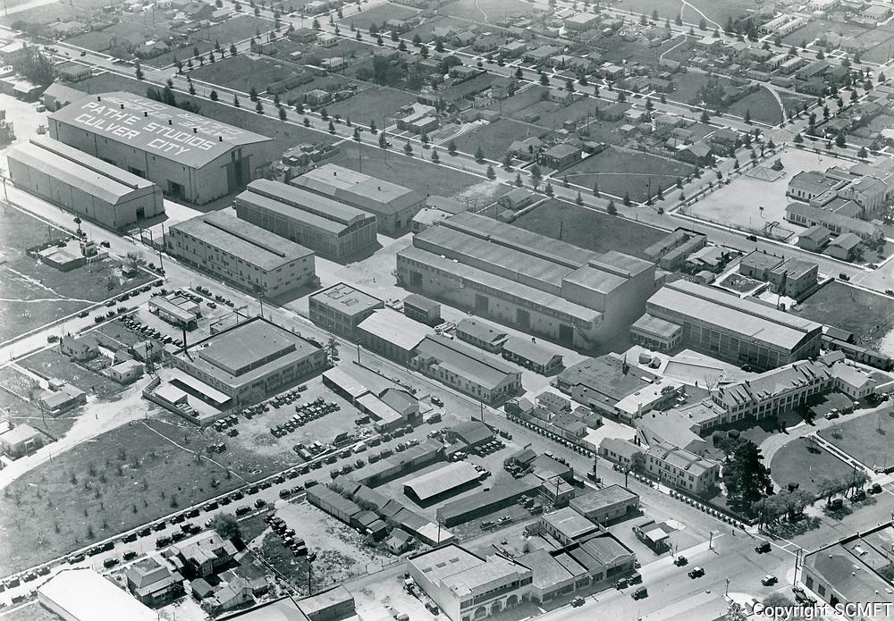 1930 Aerial photo of Pathe Studios in Culver City