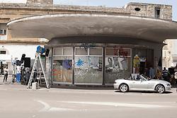 """Lecce, Maggio 2013. Set del nuovo film di Ferzan Ozpetek, """"Allacciate le cinture"""""""