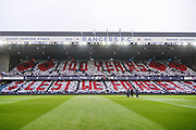 Remembrance Day tribute at Ibrox Stadium ahead of the Ladbrokes Scottish Premiership match between Rangers and Motherwell at Ibrox, Glasgow, Scotland on Sunday 11th November 2018.