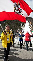 18.03.2011, Planica, Kranjska Gora, SLO, FIS World Cup Finale, Ski Nordisch, Skiflug Einzelwertung, im Bild die Eltern von Thomas Morgenstern Gudrun und Franz der Vater von Thomas Morgenstern Fanz als Fan // the father of Thomas Morgenstern Franz, supporter the parents of Thomas Morgenstern Gudrun and Franz befor  Individual results of the Ski Jumping World Cup finals in Planica, Slovenia, 18/3/2011. EXPA Pictures © 2011, PhotoCredit: EXPA/ J. Groder