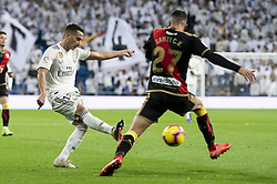 December 15, 2018 - Madrid, Spain - Lucas Vazquez of Real Madrid and Santi Comesana of Rayo Vallecano during La Liga match between Real Madrid and Rayo Vallecano at Santiago Bernabeu Stadium in Madrid, Spain. December 15, 2018. (Credit Image: © Coolmedia/NurPhoto via ZUMA Press)
