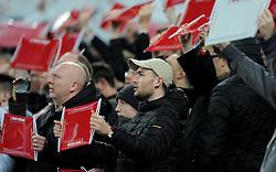 Fans hold up a flag  - Mandatory by-line: Dougie Allward/JMP - 29/03/2016 - FOOTBALL - Wembley Stadium - London, United Kingdom - England v Netherlands - International Friendly