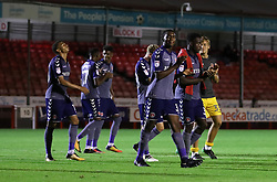 Charlton Athletic players celebrate after the final whistle