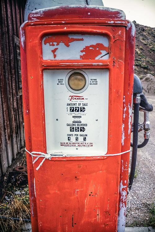 Old gas pump, Rural Nevada, USA